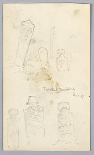 Drawing, Turkish Tombstones