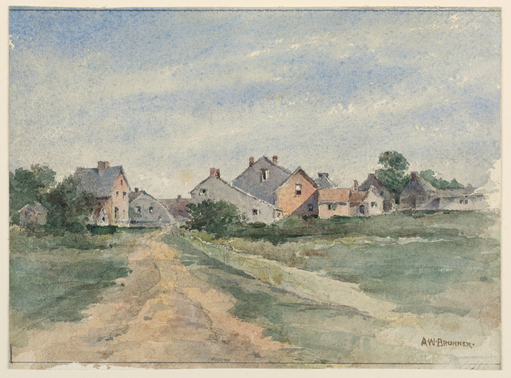 Drawing, Landscape with Houses