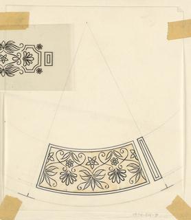 Drawing, Design for Porcelain for Transfer
