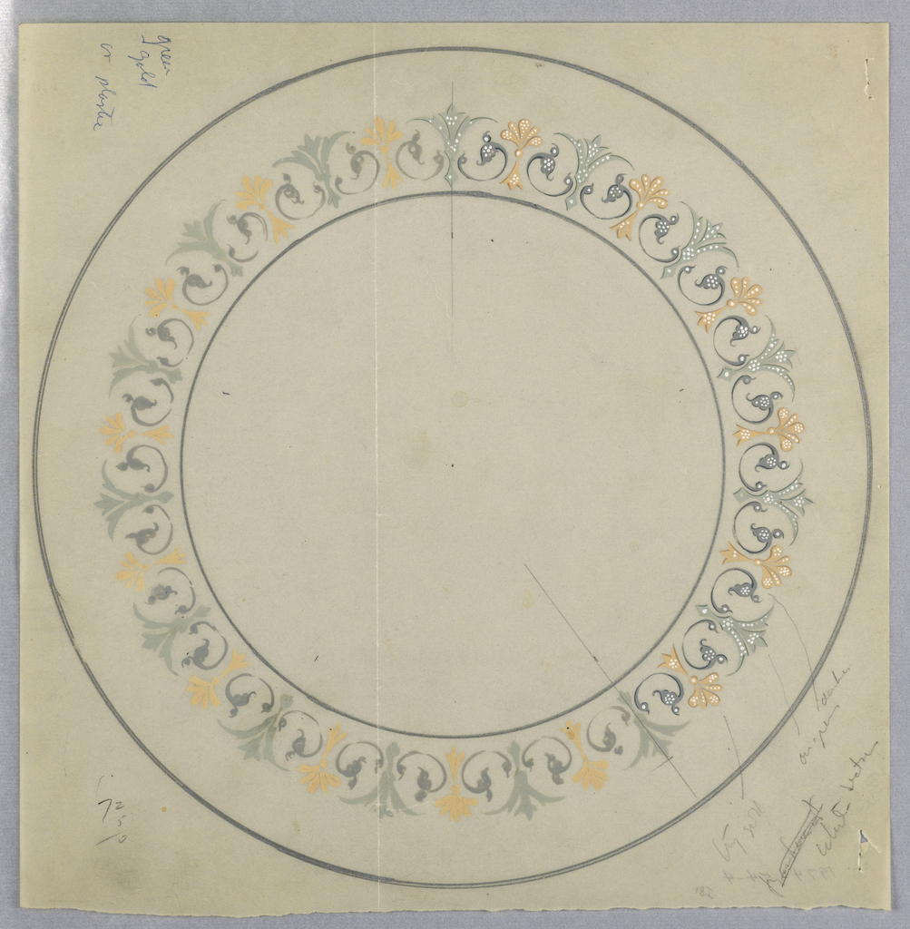 Drawing, Design for Plate Border