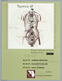 "Print/poster, Poster for ""Tactics of Po, 1991"