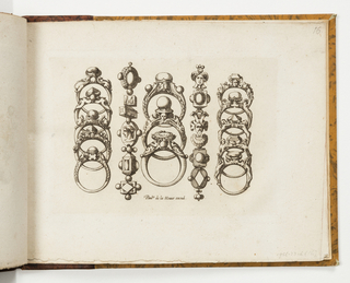 Print, Plate 16, from Livre de bijouterie (Book of Designs for Goldsmiths and Jewelers)