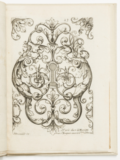 Print, Plate 13, from Diverses pièces de serruriers (Various Designs for Locksmiths)