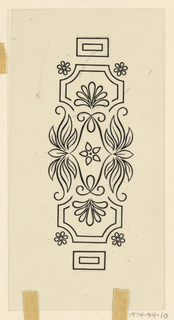 Drawing, Design for Porcelain for Transfer