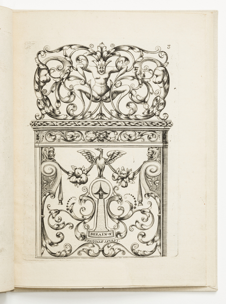 Print, Plate 8, from Diverses pièces de serruriers (Various Designs for Locksmiths)