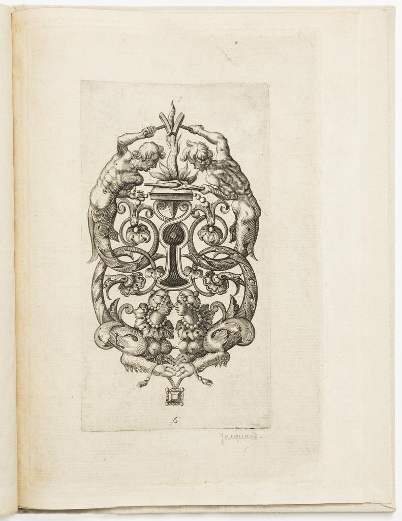 Print, Plate 6, from Différens portraitz pour les serruriers nouvellement inventez (Newly Invented Designs for Locksmiths)
