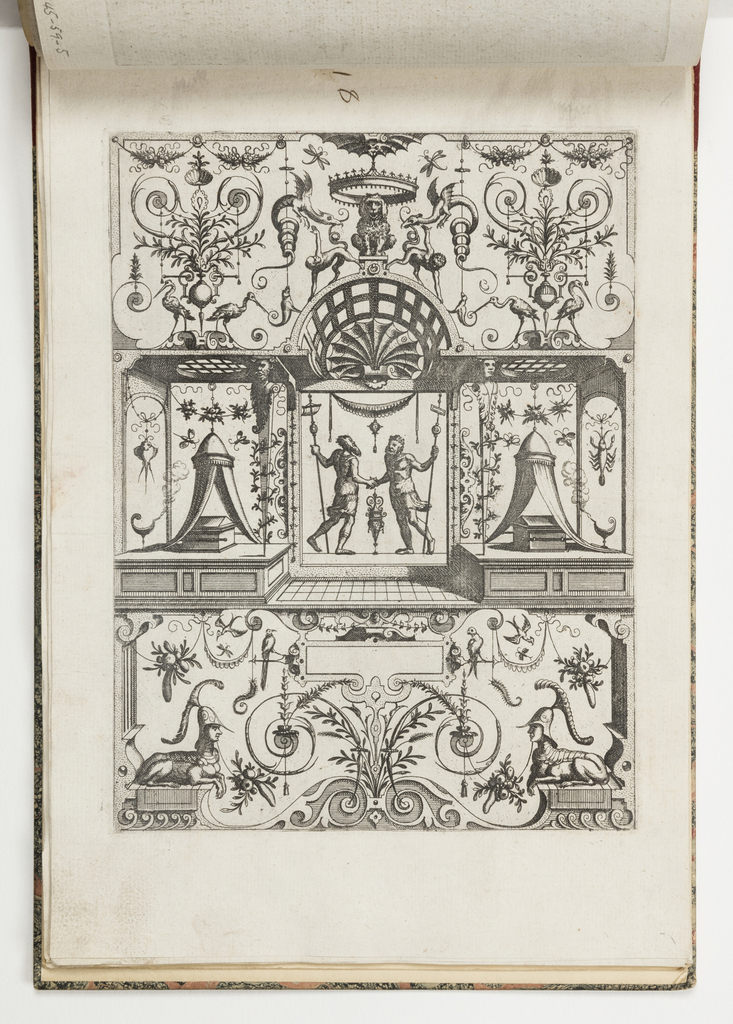 Print, Plate 18, from Grotteßco in diverßche manieren (Various Grotesques)