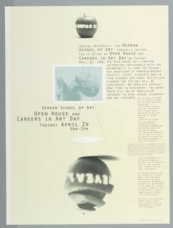 Print/poster, Poster for Open House and, 1990