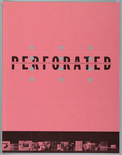 "Print/poster, Poster for ""Perforated: a, 1994"