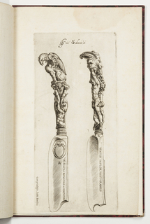 Print, Design for Two Knife Handles, 1583