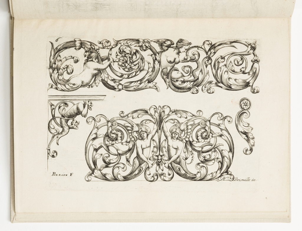 Print, Plate 6, from Diverses pièces de serruriers (Various Designs for Locksmiths)