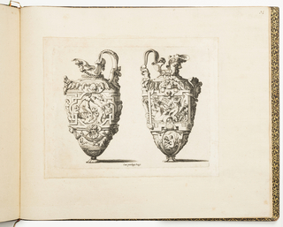 Print, Designs for Ewers, from Dessins d'orfèvrerie (Designs for Metalwork)