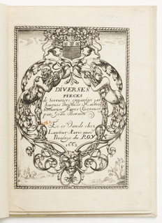 Print, Title page, from Diverses pièces de serruriers (Various Designs for Locksmiths)
