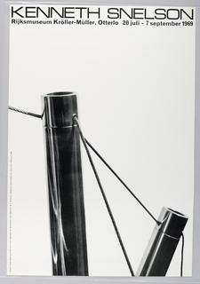 Exhibition poster for Kenneth Snelson at Rijksmuseum Kroller-Muller, Otterlo.