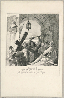 Print, Via Crucis - Station II, He takes the Cross on His Shoulders, ca. 1749