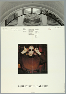 "Poster, ""Jehreslabor Ein Bericht/ Martin-Gropius-Bau"": for exhibition at Berlinsche Galerie June, 4 1992 - July 19, 1992, 1992"