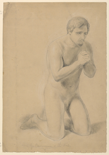 "Drawing, Study for ""Communion of the Sick"", 1844"