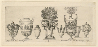 "Print, Eight Vases, from ""Raccol, 1646"