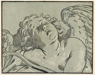 Print, A Sleeping Cupid, 1630–1645