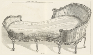 """Print, Duchesse (No. 4), from Recueil de différents Muebles garniers Comme Fauteuils (Liard's """"Suites""""), 1762"""