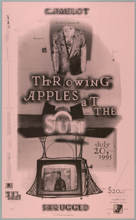 Poster, Throwing Apples at the Sun, late 20th century