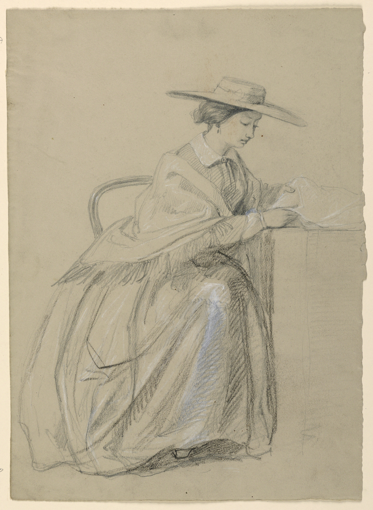 Drawing, Mrs. Sheppard Gandy Seated, 1859