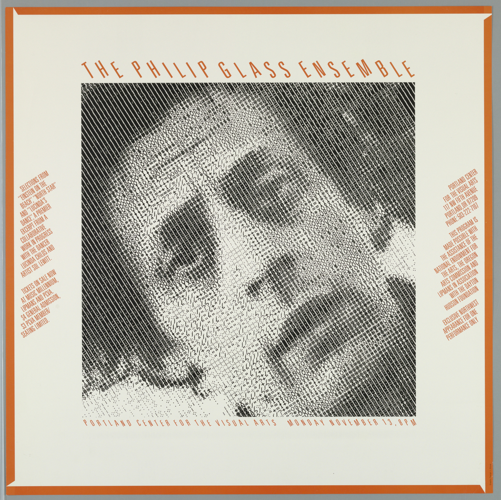 Poster, The Philip Glass Ensemble, 1979