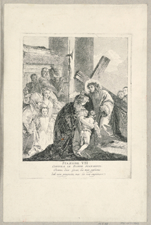 Print, Via Crucis - Station VIII, He Consoles the Weeping Women, ca. 1749