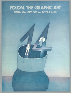 Poster, Folon, The Graphic Art,  Horn Gallery,  New York, possibly 1990