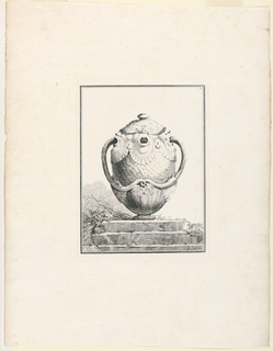 Print, Covered Vase with Grotesq, 1764