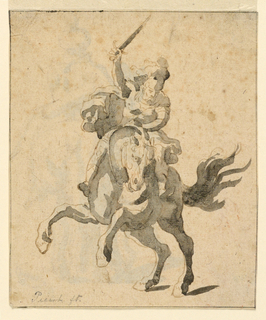 Figure on a rearing horse