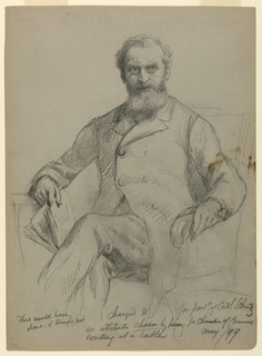 Drawing, Carl Schurz Seated, 1899