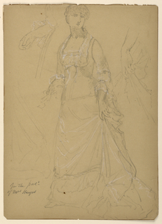Drawing, Mrs. Rutherford B. Hayes,, 1880