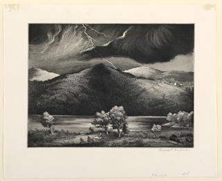 Print, Approaching Storm