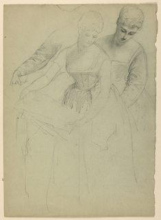 Drawing, Woman Standing, Separate, 1860
