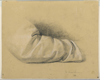 """Drawing, Study for """"Sacred Lesson"""", 1844"""