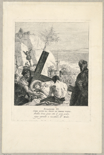 Print, Via Crucis - Station IX, He Falls Beneath the Cross the Third Time, ca. 1749