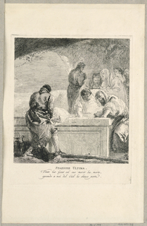 Print, Via Crucis - Station XIV, The Entombment, ca. 1749