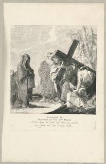 Print, Via Crucis - Station IV, He Meets His Mother, ca. 1749