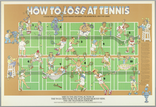 Poster, How To Lose At Tennis, n.d.