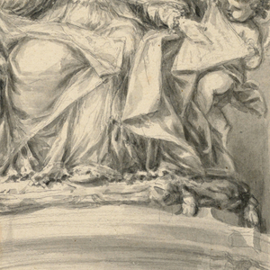 Drawing, Design for monument of Pope Clement XII, 1735