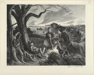 Print, Blue Valley Fox Hunt (Blue Valley; Blue Valley Hunt)