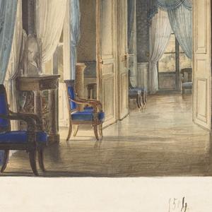 Drawing, A Salon in Restoration Taste