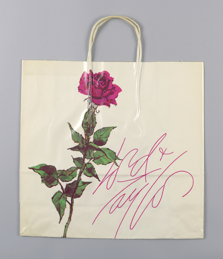 Ping Bag Lord Taylor Red Rose And Ribbon Objects