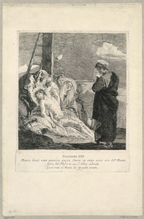 Print, Via Crucis - Station XIII, The Deposition, ca. 1749