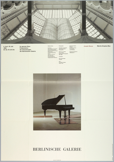 "Poster, ""Joseph Beuys/ Martin-Gropius-Bau"": for exhibition at Berlinsche Galerie June 4, 1992 - July 19, 1992, 1992"