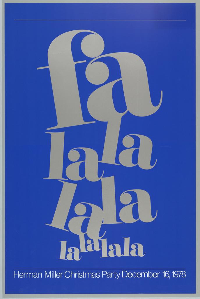 Poster, Fa La La La La La, 1978