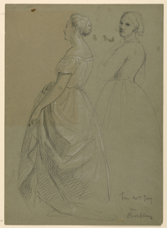 "Drawing, Study for ""Martha Washington's Reception"", 1860"