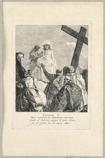 Print, Via Crucis - Station X, Jesus Despoiled, ca. 1749