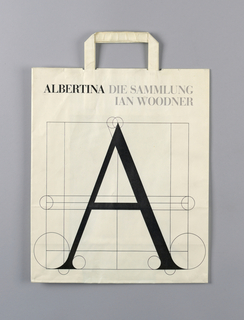 """Die Sammlung Ian Woodner"" (Ian Woodner Collection).  Viennese Museum name across top.  Large ""A"" (Albertina logo) in design of lines and circle. Black on white."